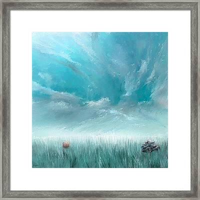 Good Ole Days- Turquoise Art Framed Print by Lourry Legarde