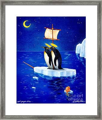 Good Penguin Ship... Framed Print by Will Bullas