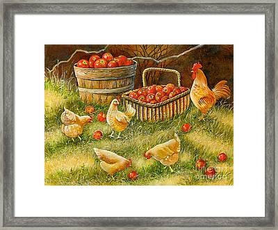 Good Pickings Framed Print by Val Stokes
