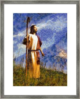 Good Shepherd Framed Print by Christian Art