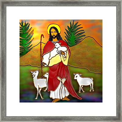 Good Shepherd Framed Print by Latha Gokuldas Panicker