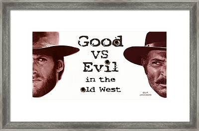 Good Vs Evil Framed Print by Clif Jackson
