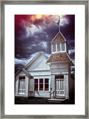 Good Vs Evil Framed Print by Ellen Heaverlo