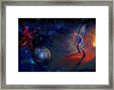 Good Vs Evil Framed Print by Ylli Haruni