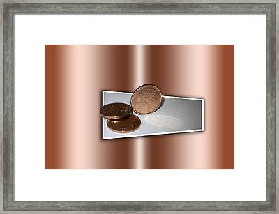 Framed Print featuring the photograph Goodbye Canadian Penny by Pennie  McCracken