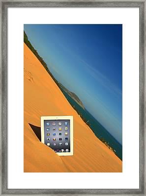 Goodbye Ipad Framed Print by Suradej Chuephanich