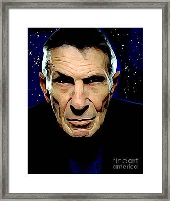 Goodbye Leonard Nimoy Framed Print by Charlie Spear