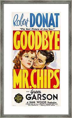 Goodbye, Mr. Chips, L-r Greer Garson Framed Print by Everett