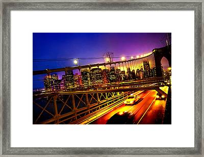 Goodbye New York City Framed Print by Az Jackson