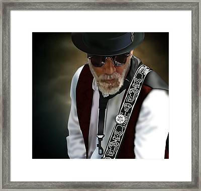 Framed Print featuring the drawing Goodbye Porkpie Hat by Penny Collins