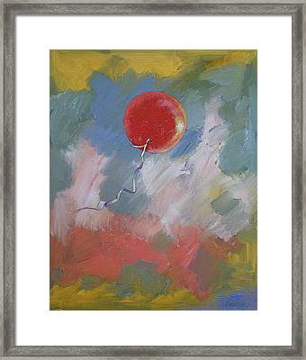 Goodbye Red Balloon Framed Print