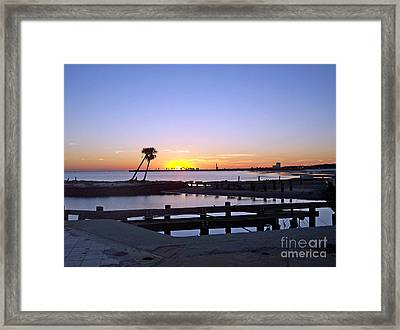 Framed Print featuring the photograph Goodbye Sun by Roberta Byram