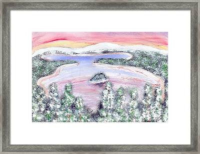 Framed Print featuring the painting Goodbye To Winter by Carol Duarte