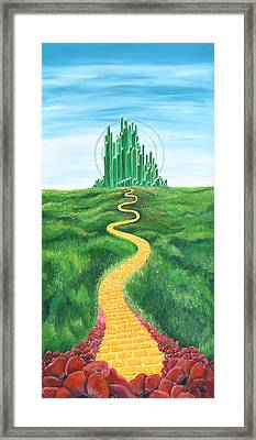 Goodbye Yellow Brick Road Framed Print