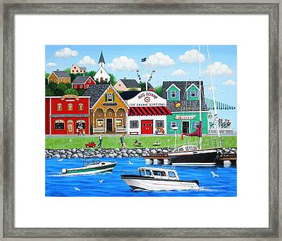 Goodies By The Sea Framed Print