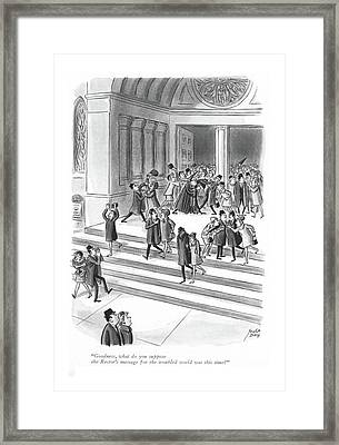 Goodness, What Do You Suppose The Rector's Framed Print by Robert J. Day