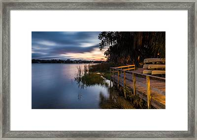 Goodnight Canoes Framed Print by Clay Townsend