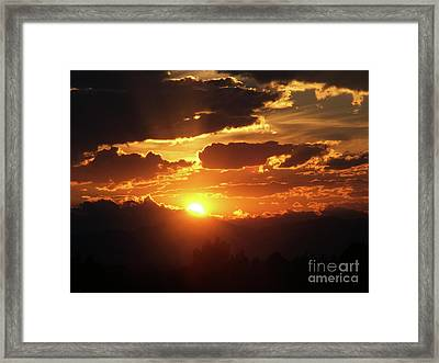 Goodnight Denver Framed Print