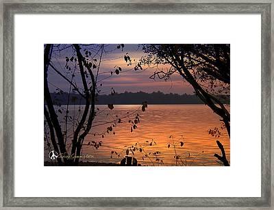Goodnight Lake Framed Print