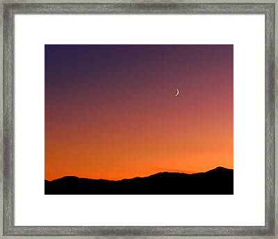 Goodnight Moon Framed Print by Rona Black