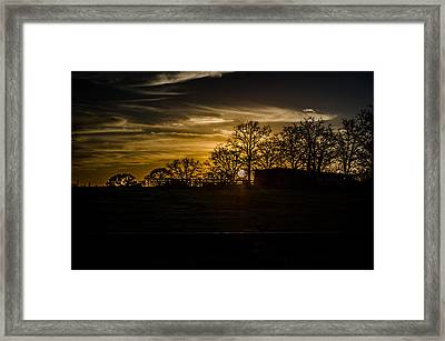 Goodnight Ranch Framed Print by Kelly Kitchens