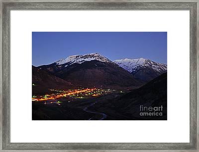 Goodnight Silverton Framed Print
