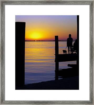 Goodnight Sun Framed Print by Karen Wiles