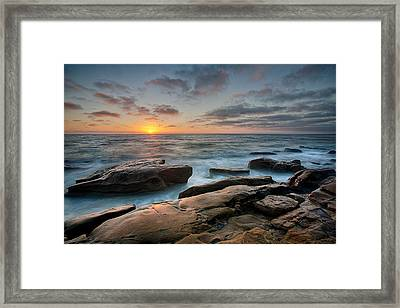 Goodnight Windnsea Framed Print by Peter Tellone