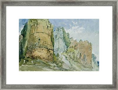 Goodrich Castle Framed Print by William Callow