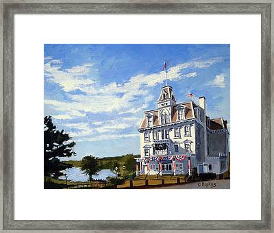 Goodspeed Opera House East Haddam Connecticut Framed Print by Christine Hopkins