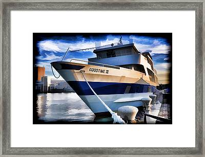 Framed Print featuring the photograph Goodtime IIi - Cleveland Ohio by Mark Madere