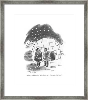 Goody, It's Snowing. Now I Can Have That Extra Framed Print