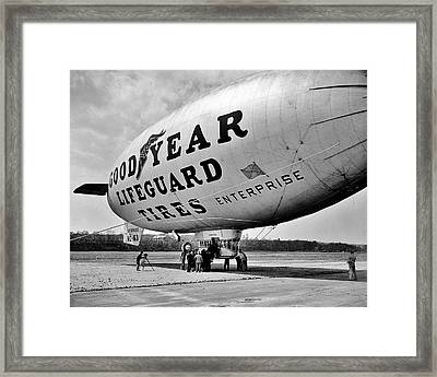 Goodyear Blimp 1938 Framed Print