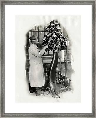 Goodyear Welt Sewing Machine Framed Print