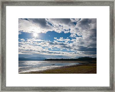 Framed Print featuring the photograph Goose Bay Sunrays by Jan Davies