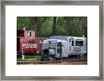 Goose By The Caboose Framed Print by Ken Smith