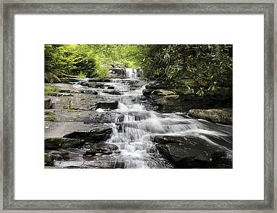 Framed Print featuring the photograph Goose Creek Falls by Robert Camp