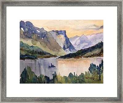 Goose Island Glacier National  Park Framed Print