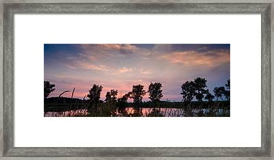 Goose Lake Prairie Sunset Framed Print