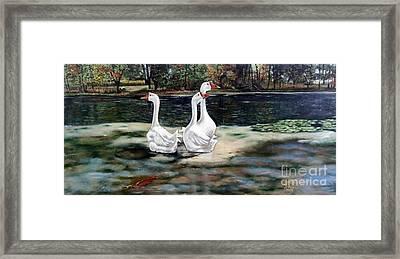 Goose Landscape Framed Print