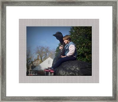 Goose Rider Framed Print by Brian Wallace