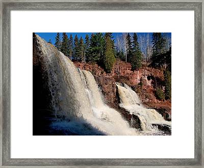 Gooseberry Falls Framed Print by James Peterson