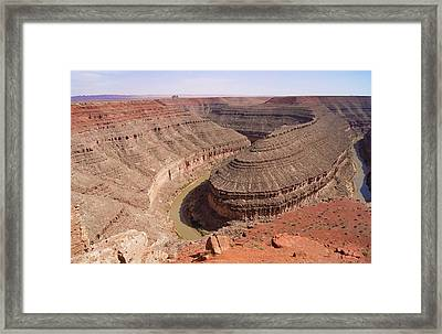 Goosenecks Of The San Juan. Framed Print by Mark Williamson