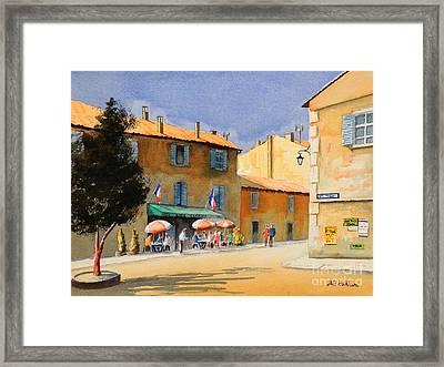 Gordel Provence Cafe Clerici Framed Print by Bill Holkham