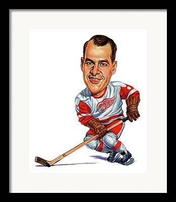 Mister Hockey Framed Prints