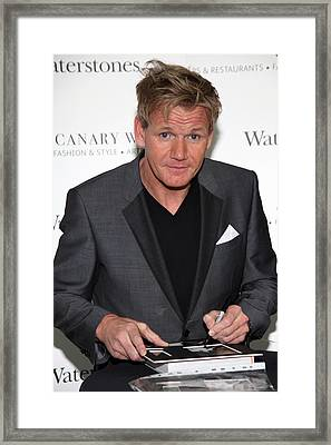 Gordon Ramsay  6 Framed Print by Jez C Self