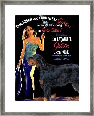 Gordon Setter Art Canvas Print - Gilda Movie Poster Framed Print