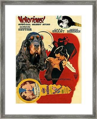 Gordon Setter Art Canvas Print - Notorious Movie Poster Framed Print