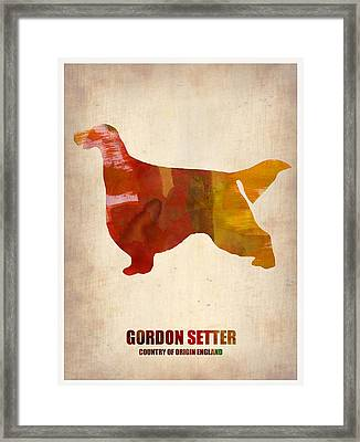 Gordon Setter Poster 1 Framed Print by Naxart Studio