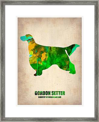 Gordon Setter Poster 2 Framed Print by Naxart Studio